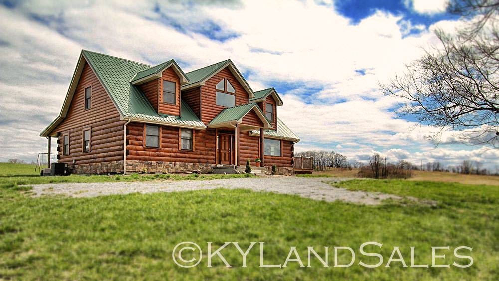 Log Cabin Home For Sale In Kentucky 16 Acres Views