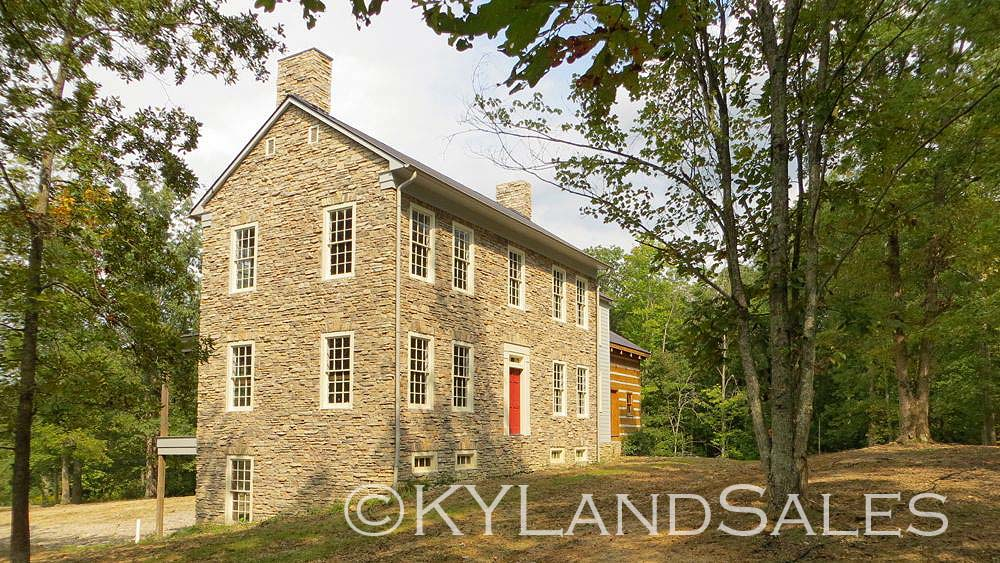 Stone house on kentucky river for Farmhouse style homes for sale