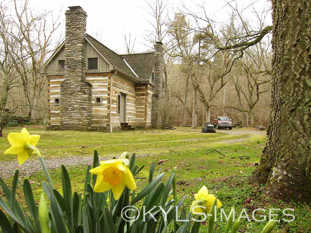 Artist retreat log cabin kentucky land for sale country Land and cabins