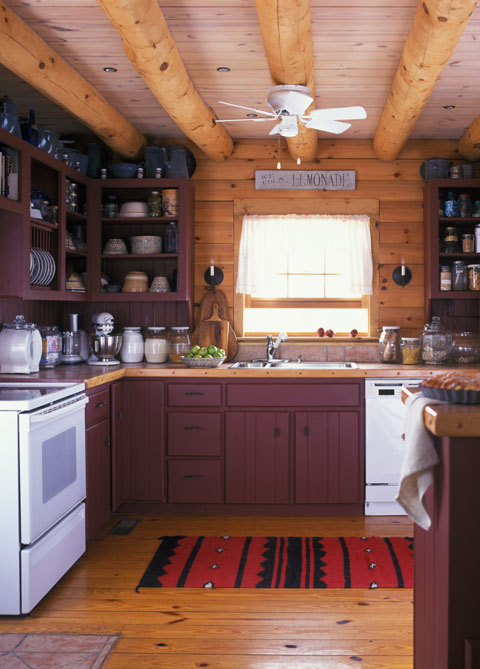 Kentucky land sales sells farms ranches ky horse farm real for Log cabin kitchen countertops
