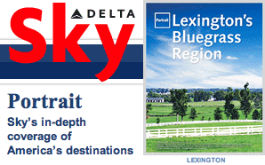 Sky Magazine feature on Lexington KY image